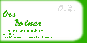 ors molnar business card